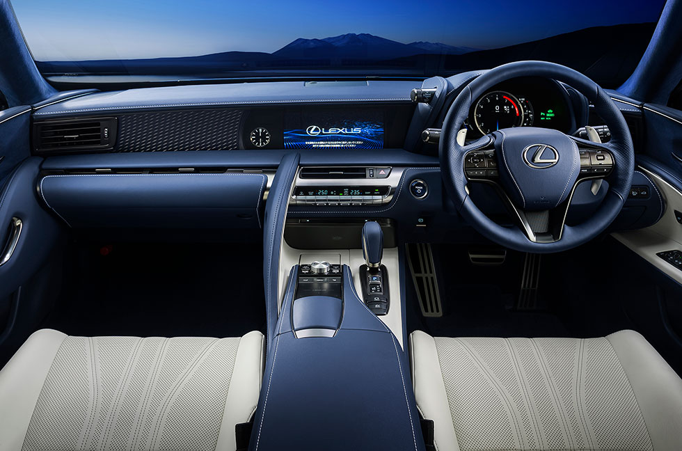 "LEXUS LC500h/LC500 Special Edition ""Structural Blue""インテリア"